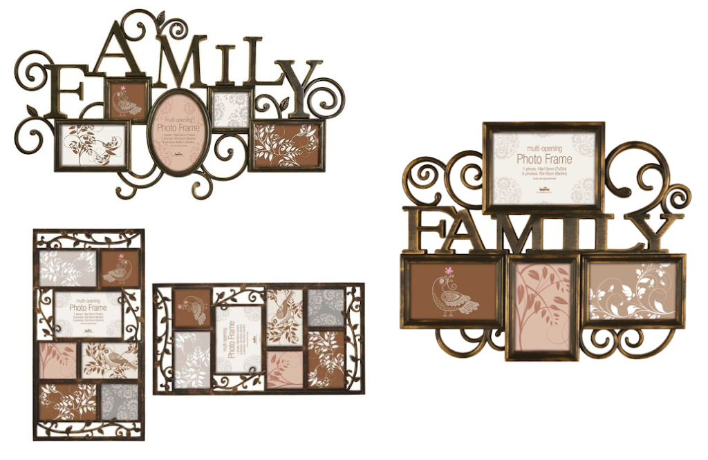 Milano Bronze Multi Opening Aperature Bronze Effect Family Picture ...