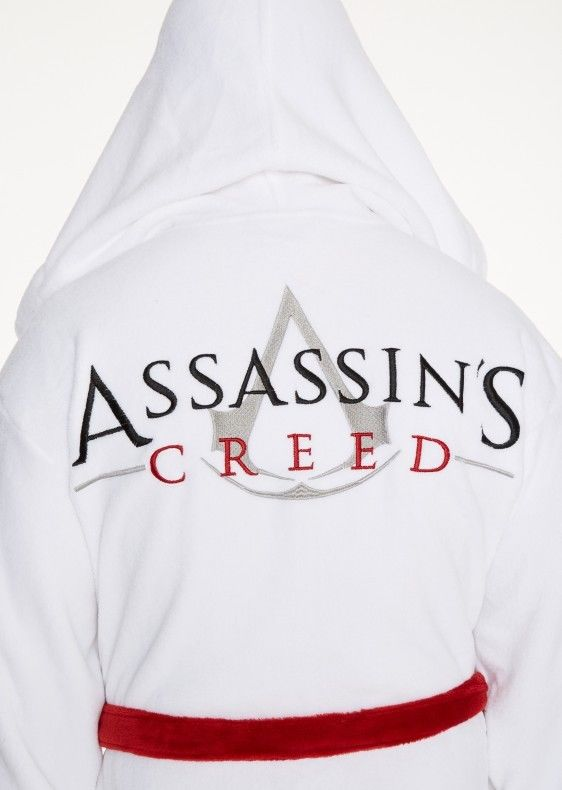 Adult Bathrobe Dressing Gown Robe Assassins Creed AND Slippers ...