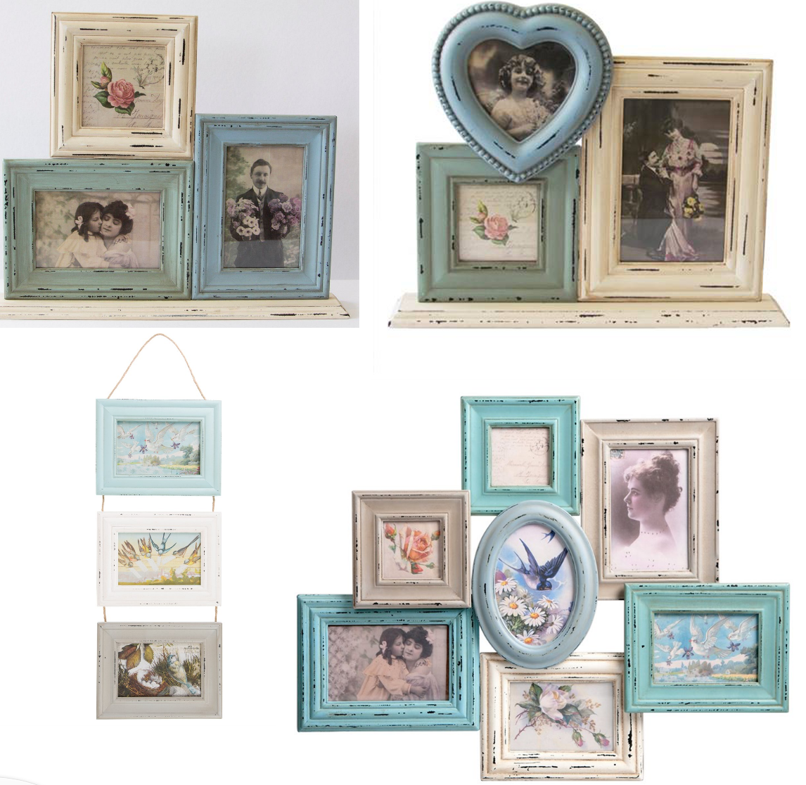 Vintage Style Photo Frame Multi Picture Collage Frames Shabby Chic ...